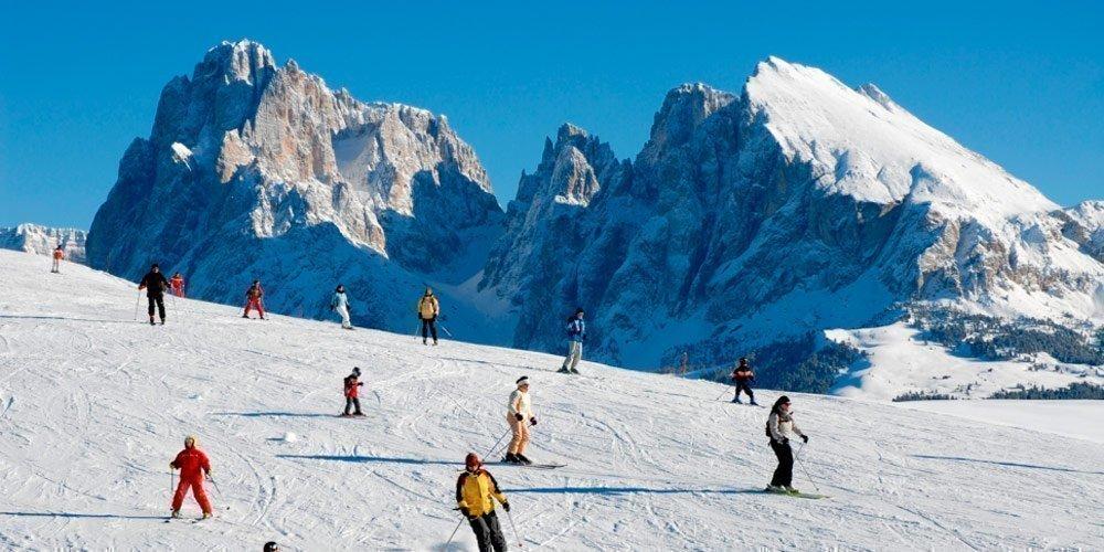 Skiurlaub in den Dolomiten - Von der Haustür auf die Skipiste